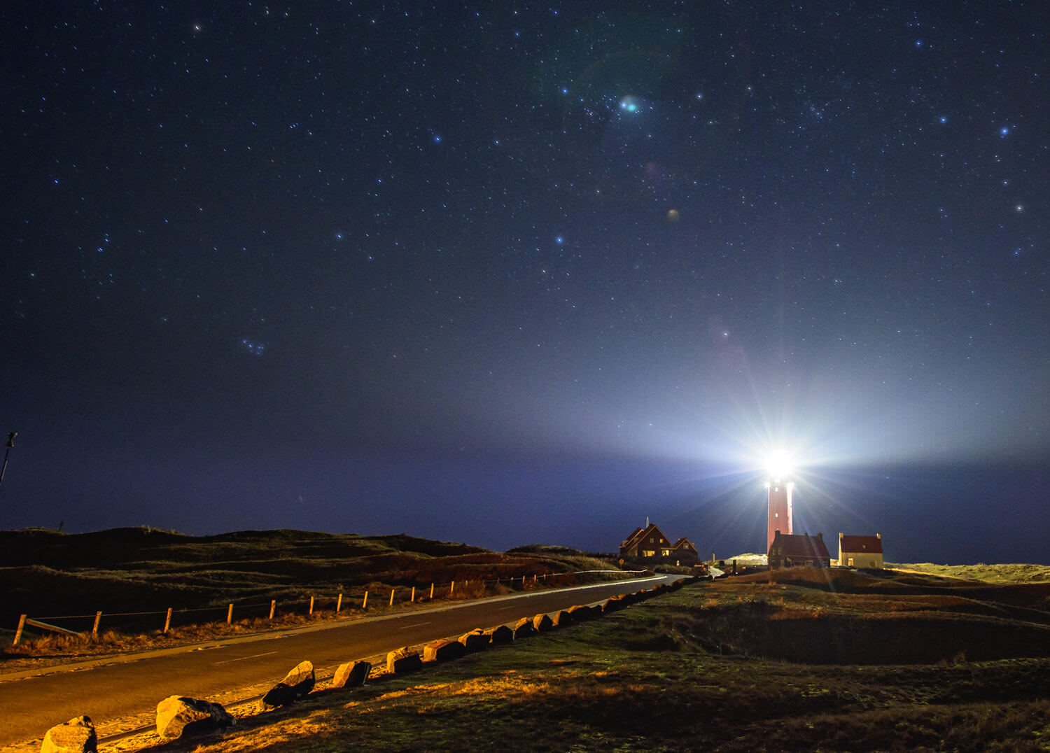Starry nights on the island of Texel
